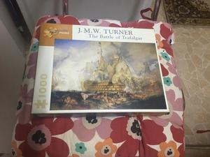 JMW Turner battle of trafalgar puzzle  pieces puzzle complete