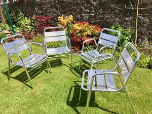 Set of four garden / patio chairs