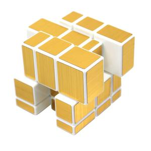 FC MXBB 3X3 Mirror Magic Cube Puzzle Gold White; Awesome