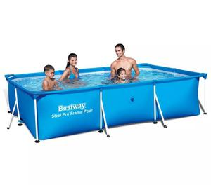 vidaXL Bestway Steel Pro Rectangular Swimming Pool  New
