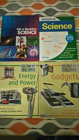 4x Childrens SCIENCE books, - BRAND NEW