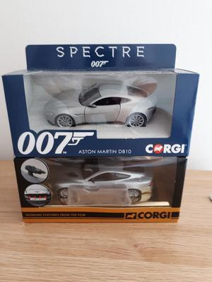 Corgi james bond 007 aston martin db10 and vanqush x 2 boxed