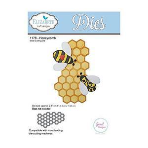 Elizabeth Craft Designs Honeycomb Die, Metal, Grey