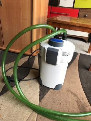 External filter for fish tank ef v g c all clean with long pipe and mediya look pic