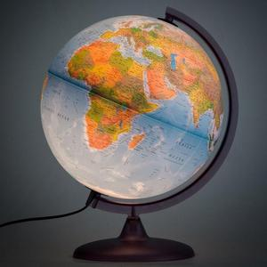 Mellinera Ilustrated Globe Physical Political Map