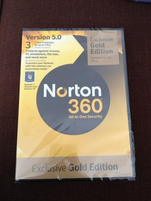 Norton 360 All In One Security - 1 Year 3 PCs - Exclusive Gold Edition - Ver 5.0