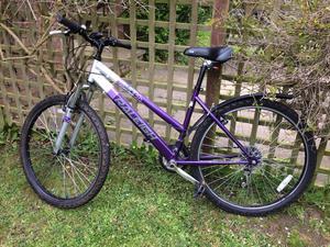 Raleigh ladies purple bike
