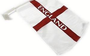 England World Cup Car flags 144 flags per box.