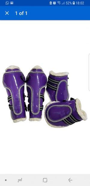Purple tendon & fetlock boots