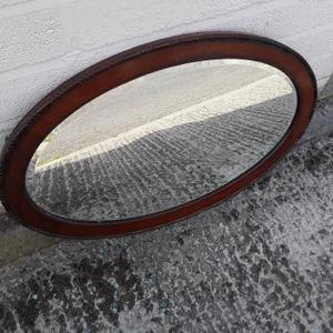 Vintage Wooden Frame Mirror