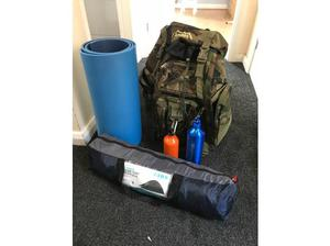 Andes 120 Ltr back pack with 2 man tent used once and