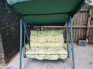 Garden Swing Chair Patio 2 Seater MetalSwinging Lounger