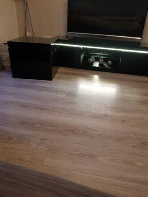 High gloss black tv unit and storage table
