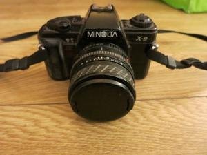 Minolta SLR 35mm camera X-9 X9 Sigma zoom lens made in Japan similar to X300