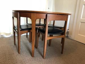 Nathan Retro Round Extending Dining Table and Chairs