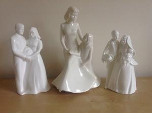 Royal Doulton wedding figures/figurines and Royal Worcester mothers love