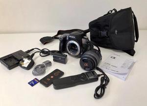 Sony Alpha AMP Digital-SLR Camera with mm Lens.