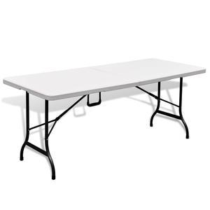 vidaXL Foldable Garden Table 180 cm HDPE White