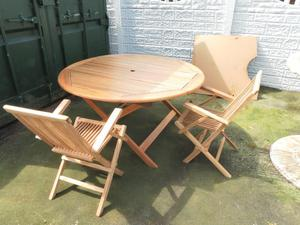 wooden table and chairs.