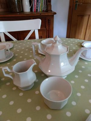 Beautiful white china tea set