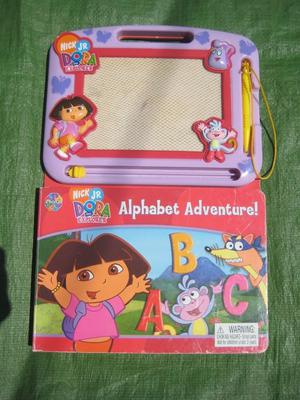 Dora the Explorer Alphabet Adventure - Book and Magnetic Wipe Clean Drawing Pad