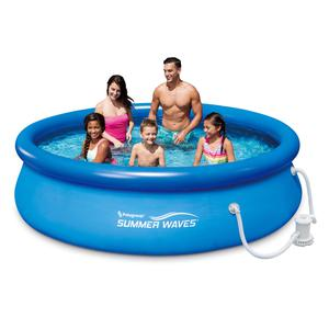 Inflatable Backyard Swimming Pool Family with Filter Pump