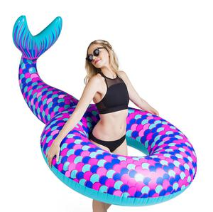 Inflatable Mermaid Tail Swimming Pool Float Lounge Lake