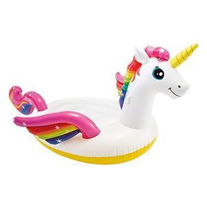 "Intex Inflatable Unicorn Pool Lounger Mat 113"" x 79"" x 65"""