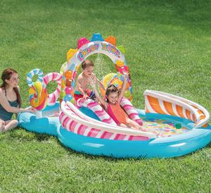Intex Kids Inflatable Candy Zone Swim Play Center Kids