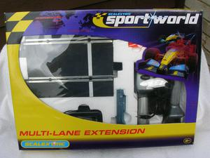 "SCALEXTRIC C ""SPORTWORLD MULTI-LANE EXTENSION"" SET: NEW,"