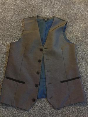 Grey lined waistcoat age 13