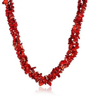 Hot Red Cubic Zircon Geometry Chain Necklace For Women Girl