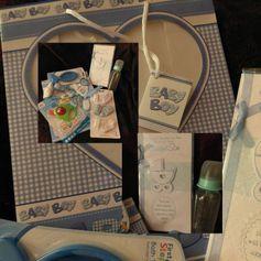 Newborn Baby Boy's Gift Bag Bundle - Baby Shower/New Mum