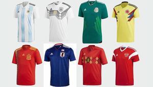 World Cup Football Shirt  - England Nigeria Spain Argentina France Egypt Morocco Portugal