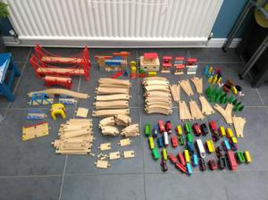 large collection of trains and track