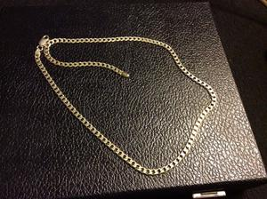 Solid silver curb chain hallmarked