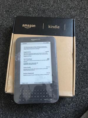 "Amazon Kindle Keyboard Wi-fi, 6"" E Ink - complete."