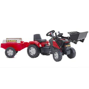 FALK Tractor with Shovel and Trailer Red 2/5