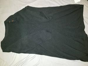 Black long knitted jumper dress