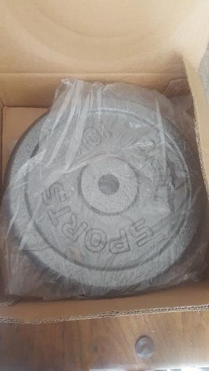 Brand new iron discs 2×10kg