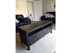 Ikea Hermes TV stand in black/brown in Rugby