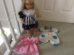 Original Zapf doll from 's original clothes/outfits lovely condition