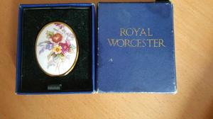 Vintage Royal Worcester Fine China Floral Brooch