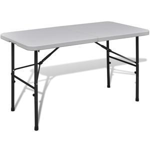 vidaXL Foldable Garden Table 122 cm HDPE White