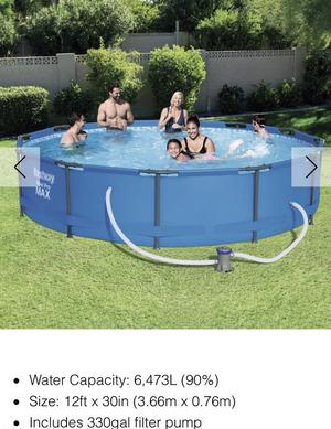 Bestway 12ft swimming pool with filter