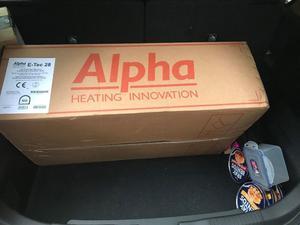Brand new boxed Alpha E-TEC 28kW combi boiler, typically £766