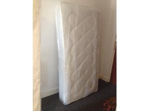 Brand new in packaging single divan bed base+ mattress in