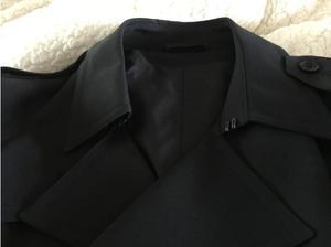 Men's black Trench coat in Llantwit Major