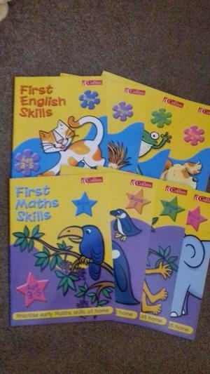 My first maths and English skills books