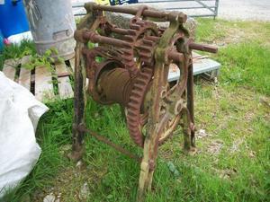 antique winch, cast iron slipway